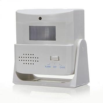timbre inalámbrico de alarma de bienvenida detector del sensor de movimiento del carillón