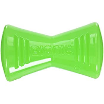 Tough Rubber Dog Bone, Durable Chew Toy for Large Dogs by Bionic, Large, Green