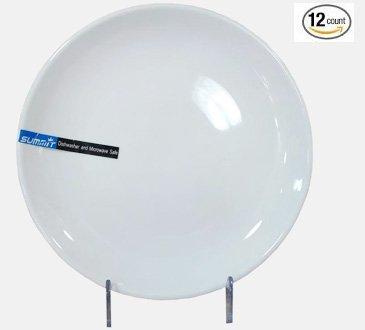 1 Dz Super White Round Porcelain Coupe Plates (7