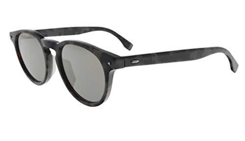 Sunglasses Fendi Men Ff M 1/S 0ACI Gray Bksptd/UE gray ivory mirror lens (Sale Glasses Fendi)