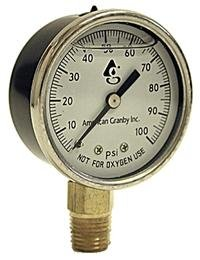 - Water Well Pump Liquid Filled Side Lower Mount Pressure Gauge 0 to 100 PSI, 1/4