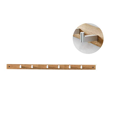 MAODING L-Type Clothes Hook Hall Hall Wall Coat Rack Oak Wall Hanger Bedroom Simple Hanger Porch Hanger Durable Environmental Protection L-Type Clothes Hook,Yellow,6Hook - Oak Plate Rack