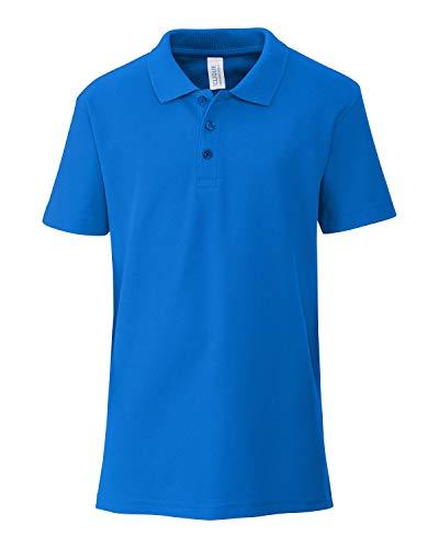 Clique YQK00001 Unisex Addison Youth Polo Shirt, Royal Blue - XS