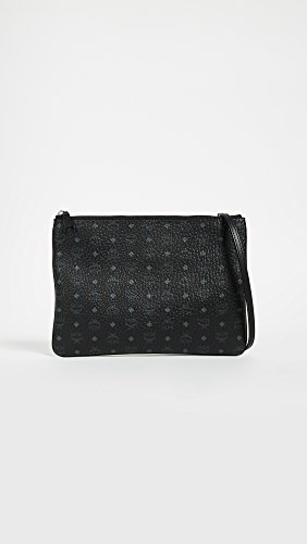Pouch MCM Black Medium Visetos Women's SSg7Tf