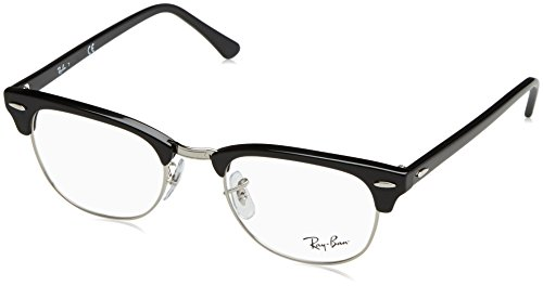 Ray-Ban RX5154 Clubmaster Eyeglasses Shiny Black - Miki Glasses