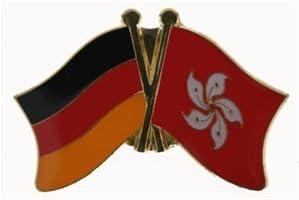 Yantec Freundschaftspin Deutschland-Hong Kong Pin Flagge