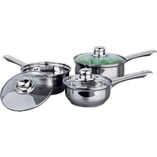 Kochtopf Material 3 stück pcs carbon stahl edelstahl aluminium material küche