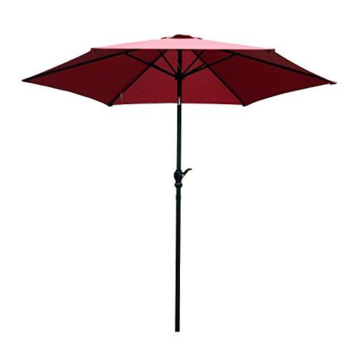 Cheap  Outsunny 9FT Aluminum Market Patio Umbrella with Adjustable Tilt