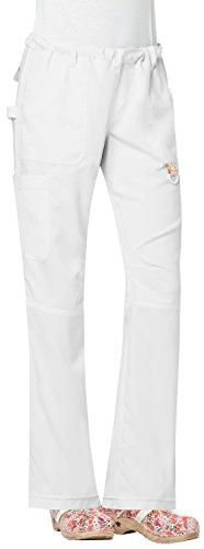 KOI Tech Women's Lindsey 2.0 Drawstring Elastic Waist Scrub Pant X-Large White by KOI