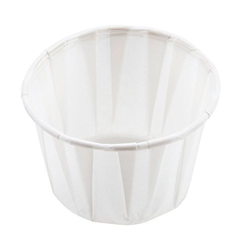 1000 x 1oz Disposable White Paper Souffle Ramekins / Portion Pots / Sauce Pots for Condiments or Medicines by Genpack