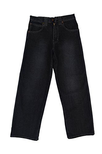 Eagle Boy Wide Leg Jeans Basic Five Pockets Relaxed Straight fit Black Sandblast Size ()