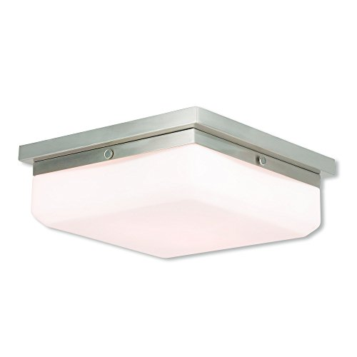 Livex Lighting 65537-91 Allure 3 Light BN Wall Sconce/Ceiling Mount, Brushed Nickel (Ada Three Mount Light Wall)