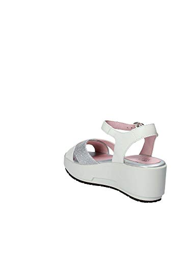 Femmes Stonefly compensées 40 110332 Blanc Sandales q88rO1xt