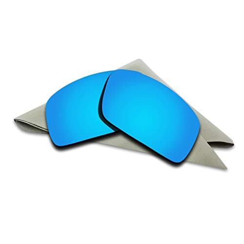 (Polarized Lenses Replacement for Oakley Oil Drum Blue Mirrored)