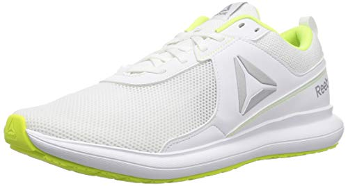 Reebok Women's Driftium Running Shoe, White/Cool Shadow/Solar Grey, 9 M US