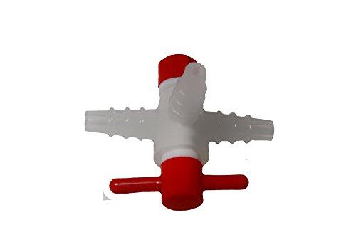 3-Way Polypropylene Stopcock w/PTFE Plug