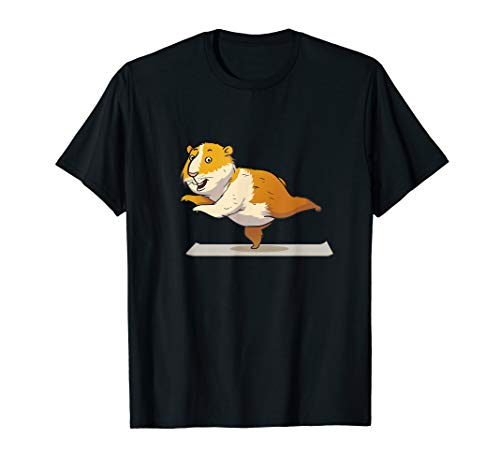 Guinea Pig Yoga T-Shirt I Pet Owner -