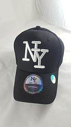 NY - Gorra de béisbol - para Hombre Negro Negro 57: Amazon.es ...