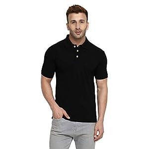 CHKOKKO Men's Polo Cotton Regular Fit Half Sleeves T-Shirt with Pocket