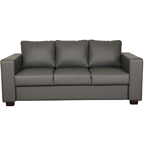 CasaStyle   Harleyson 3 Seater Leatherette  amp; Extra Specious Sofa  Grey