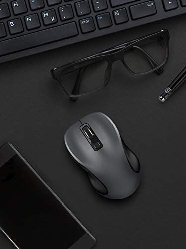 WIRELESS MOUSE, RATEL 2.4G WIRELESS ERGONOMIC MOUSE COMPUTER MOUSE LAPTOP MOUSE USB MOUSE 6 BUTTONS WITH NANO RECEIVER 3 ADJUSTABLE DPI LEVELS CORDLESS WIRELESS MICE FOR WINDOWS, MAC