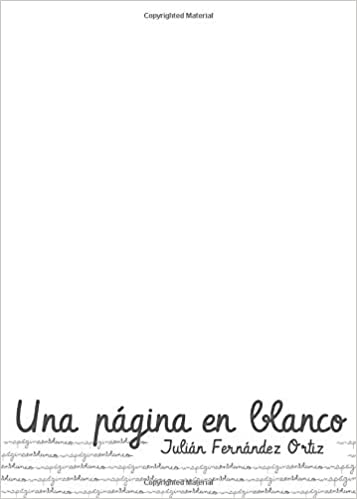 Una página en blanco (Spanish Edition): Julián Fernández ...