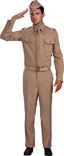 Men's 1940's Military Fancy Dress Party Outfit Ww2 Private Soldier Costume