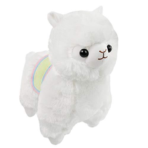 Adorable Plush Soft (Athoinsu Stuffed Alpaca Adorable Soft Plush Toys Fluffy Animal Pillow Kids' Gifts on Easter Birthday, White, 13'')