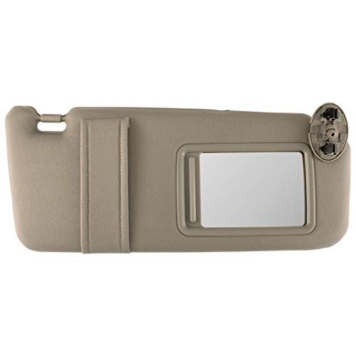 IAMAUTO 89958 New Sun Visor Right Passenger Side Tan Beige for 2007 2008 2009 2010 2011 Toyota Camry Without SUNROOF