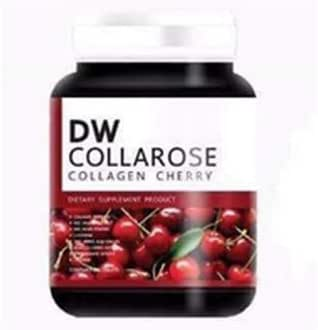 Dw Collarose Collagencherry Collagen nourishes Skin, Reduces Acne, Reduces Freckles, Dark Spots 60 Capsule by poj Shop