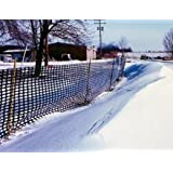 Tenax Safety Snow Fence, Black, 4 by 50-Feet