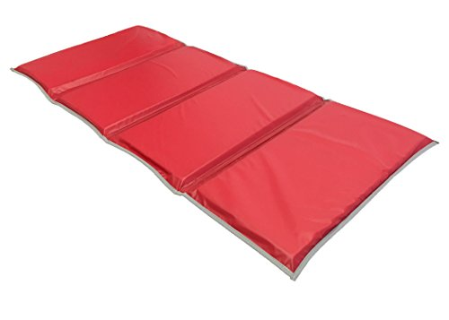 KinderMat 1 Inch Rest Mat with Gray Binding, Red/Blue, 5 mil (Resting Mat)