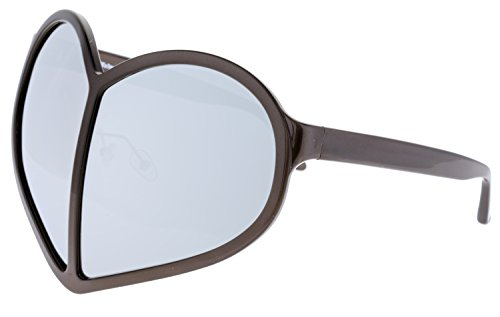 LINDA FARROW Walter Van Beirendonck Brown Silver Mirror Heart WVB/5/3 Polarized - Sunglasses Vans Womens