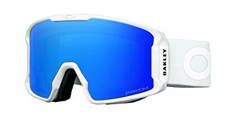 Oakley OO7070-15 Men's Line Miner Snow Goggles, Pilot White, Prizm Sapphire Iridium, - Sunglasses Oakley Skiing