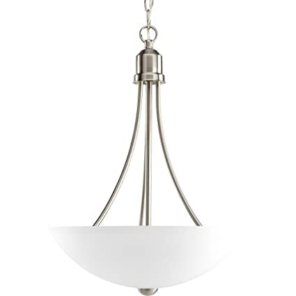 Progress Lighting P3914 09 Gather Collection 2 Light Foyer Pendant, Brushed  Nickel