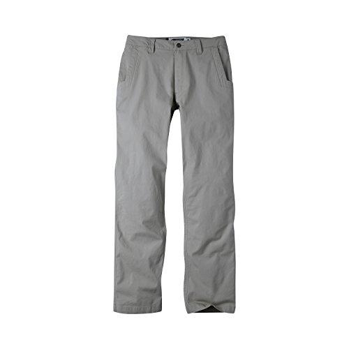 Mountain Khakis Mens Pants: All Mountain Pant Slim Fit - Low-Rise Stretch Organic Cotton Canvas, Gunmetal, 36W 32L