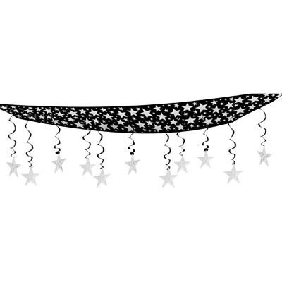 12' Black Tissue - Beistle Party Decoration The Stars Are Out Ceiling Decor 12