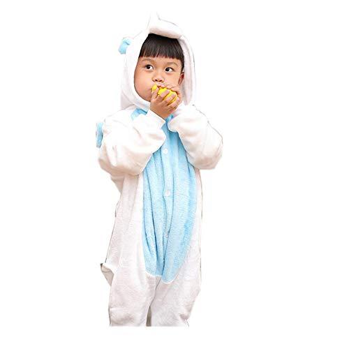 Children's Animal Pajama Onesie Halloween Costume Pockets(blue-95-for Height (102-110cm)) ()
