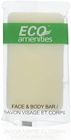 ECO Amenities Spa Sachet Individually Wrapped 1 ounce Cleaning Soap, 100 Bars per Case