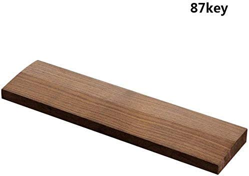 Shuxinmd Wooden Keyboard Wrist pad Ergonomic Wood Palm Rest Hand Support for PC Computer Laptop Gaming Keyboards in Home or Office Walnut