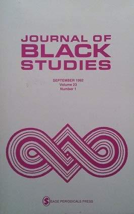 Books : Journal of Black Studies (Volume 23, Number 1)