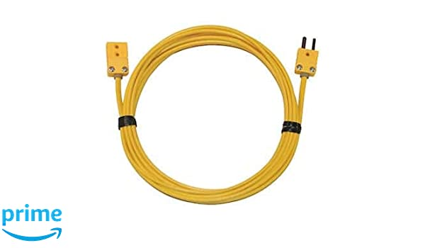 K Type Thermocouple Extension Cable 3 Metre with Male and Female Mini Connectors