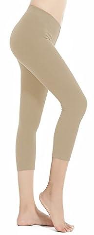 Aenlley Women's Spandex Capris Leggings - Ultra Soft Workout Legging Color K Plus Size - Opaque Stirrup Tights