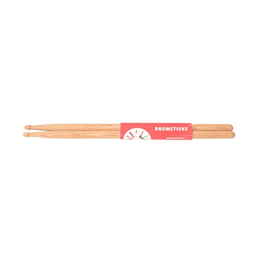 Happy Roam Specialise in Educational Music Toys Beautiful Interesting Drum Sticks 5A Wood Tip Drumstick, Walnut Wood, 1 Pair Professional Musical Instruments ( Color : Natural ) ()