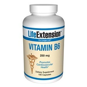 Prolongation de la vie Vitamine B6 Gélules 250mg, 100-Count