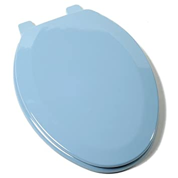 turquoise toilet seat cover. Comfort Seats C1B4E2 45 Deluxe Molded Wood Toilet Seat  Elongated Regency Blue