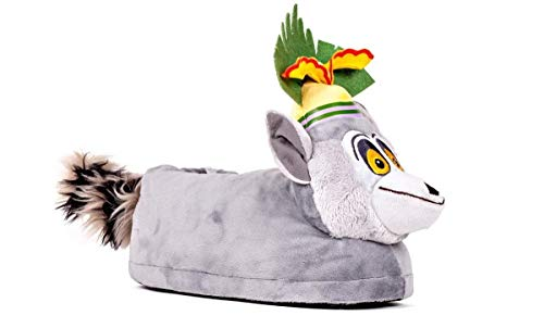 Happy Feet 2107-1 - DreamWorks Madagascar - King Julien Slippers - Small Mens and Womens Slippers (Best Of King Julian Madagascar)