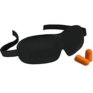 Sleep Mask, Eye Shade for Sleeping - Best Ear Plugs - Memory Foam, Contoured, Cute, 3D Comfortable, Blindfold, Blackout, Soft Cotton, Cold Travel Night Mask Cover for Men, Women, Kids, Girls