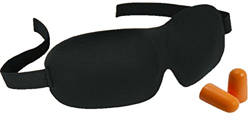 Sleep Mask, Eye Shade for Sleeping with Ear Plug - Memory Foam, Contoured, Cute, 3D Comfortable, Blindfold, Blackout, Soft Cotton, Cold Travel Night Mask Cover for Men, Women, Kids, Girls Super Ear Wipes