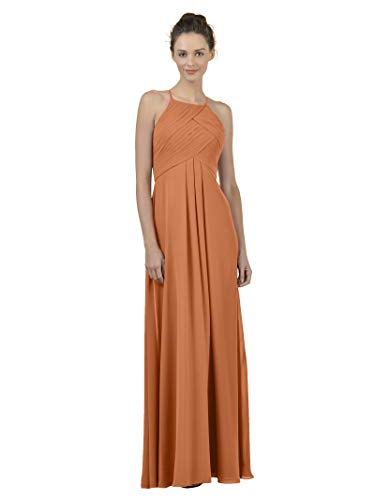 Alicepub Long Chiffon Bridesmaid Dress Maxi Evening